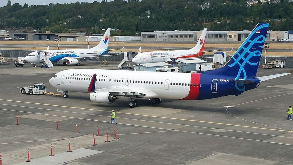 Boeing 737-900ER společnosti Sriwijaya Air. Foto: Airplaneguy11 - Own work, CC BY-SA 4.0, https://commons.wikimedia.org/w/index.php?curid=46212925