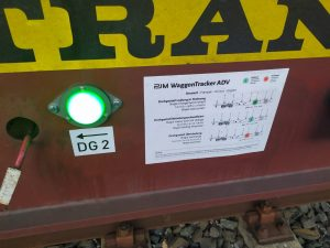 Vagon se zeleným světlem. Pramen: archiv Zdopravy.cz