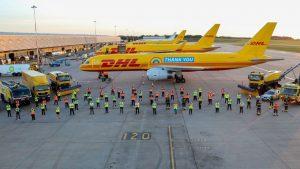 Boeingy 757 v barvách DHL. Foto: DHL