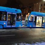 Srážka tramvají v Ostravě. Foto: Roman Škarda / Facebook
