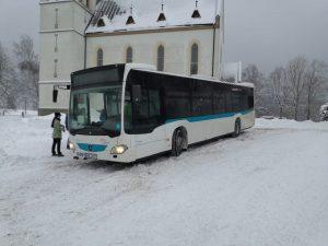 Autobus Umbrelly v Horním Maxově. Foto: Umbrella