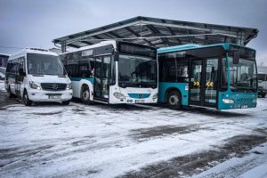 Autobusy Umbrelly pro provoz v Jablonci nad Nisou. Foto: Umbrella
