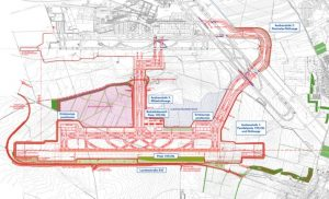 Plán na třetí přistávací a vzletovou dráhu ve Vídni. Foto: Letiště Vídeň