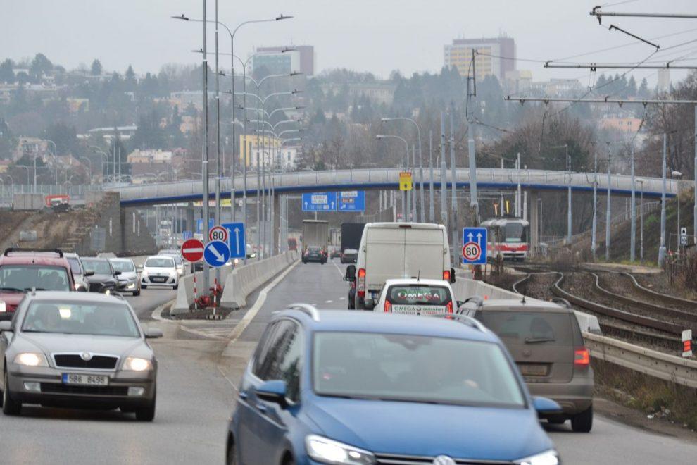 Žabovřeská ulice v Brně, záběr ze stavby I. etapy. Foto: ŘSD