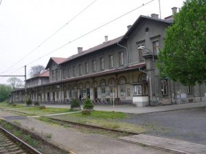 Výpravní budova v Žatci. Foto: Jan Koloc / Národní památkový ústav