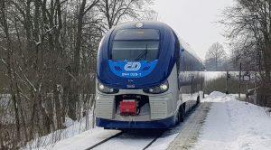 Motorová jednotky 844 RegioShark Českých drah ve Lvové. Foto: Jan Sůra / Zdopravy.cz
