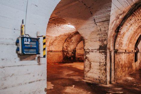 Zachované klenby Vídeňského viaduktu v Brně. Pramen: KAM