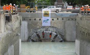 Stavba metra v Karlsruhe společností BeMo Tunneling. Pramen: Metrostav