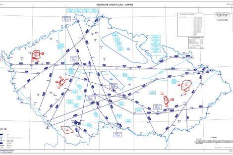 Mapa vzdušného prostoru FL245A před 25.2. 2021. Pramen: ŘLP