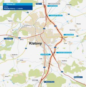 I/27, obchvat Klatov. Pramen: ŘSD