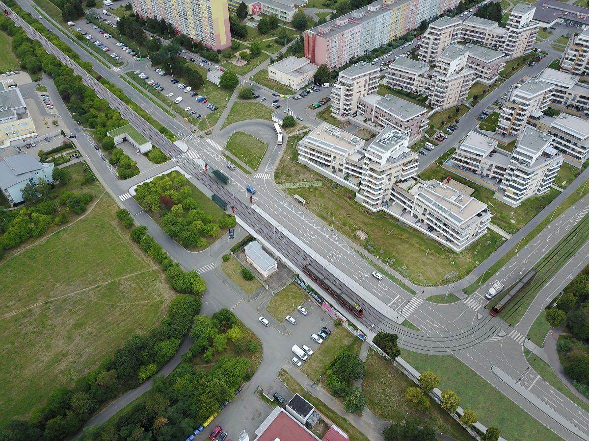 Tramvajová trať Modřany - Libuš, vizualizace. Autor: Metroprojekt