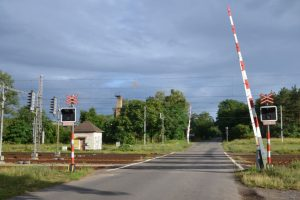 Přejezd Rohatec na koridoru Břeclav - Přerov. Pramen: Správa železnic