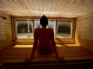 Vagon - sauna projektu VlakFest. Autor: Martin Zavadil