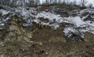 Testovací odstřel skály pod Wilsonovým lesem v Brně. Pramen:: ŘSD