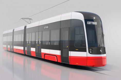 Vizualizace nové tramvaje pro Chotěbuz. Foto: Škoda Transportation