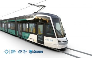 Tramvaj ForCity Smart Artic X54. Pramen: Škoda Transportation