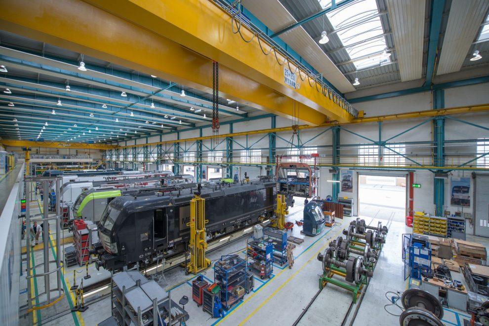 Výroba lokomotiv Siemens Vectron. Pramen: Siemens Mobility