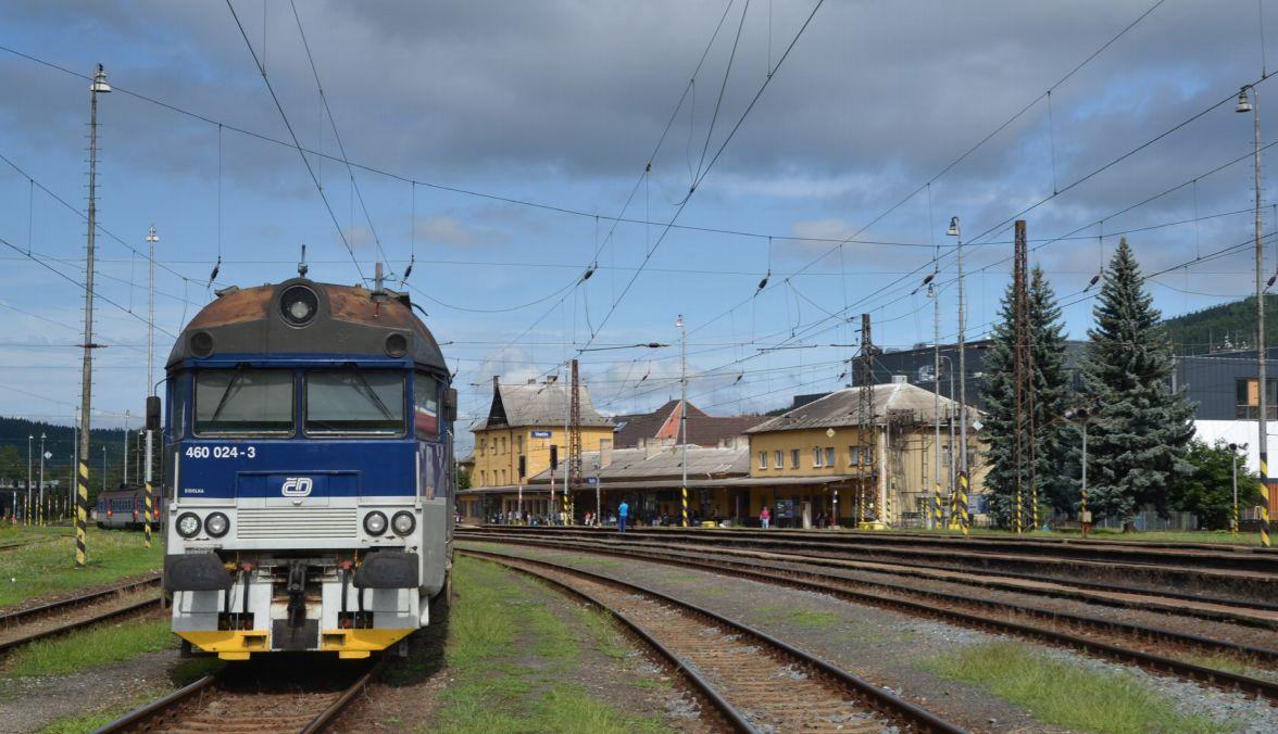 Železniční stanice Vsetín. Pramen: Správa železnic