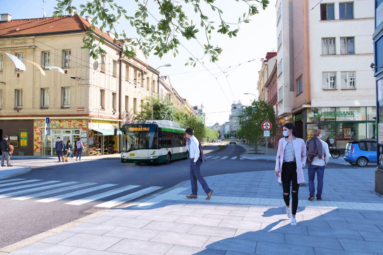 Vizualizace podoby Americké třídy bez aut. Foto: Plzen.eu