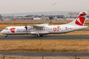 ATR 72 ČSA ve Frankfurtu. Foto: Oliver Holzbauer / Flickr.com