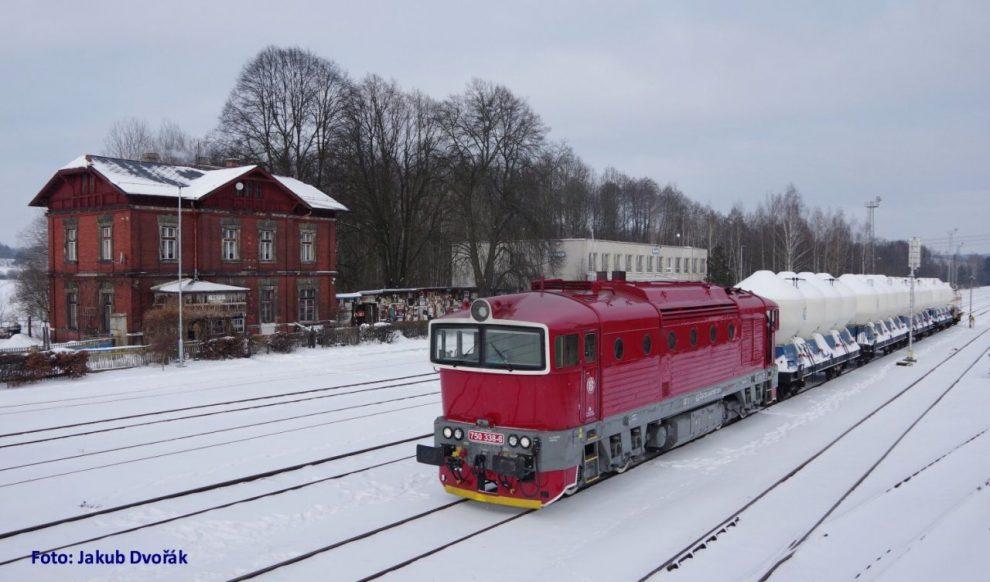 Lokomotiva 750.338 ČD Cargo v retro nátěru v Brništi. Foto: Jakub Dvořák
