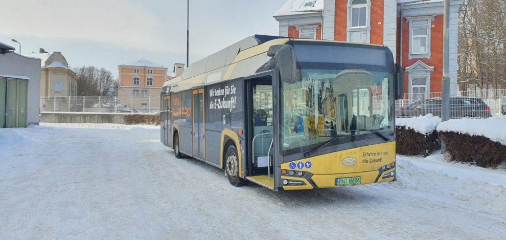 Elektrobus Solaris v Děčíně. Foto: DPMD