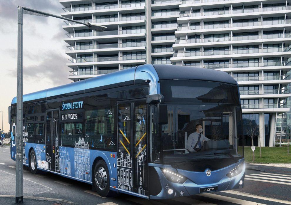 Elektrobus Škoda E'City. Pramen: DPP