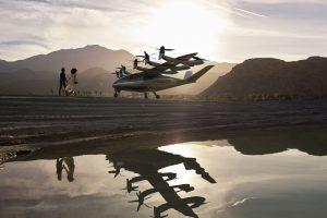 Vizualizace konceptu nového letadla eVTOL od Archer Aviation