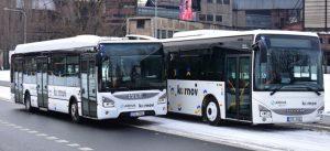 Autobusy Arrivy pro MHD v Krnově. Foto: Arriva
