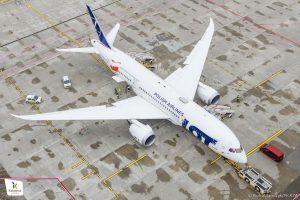 Boeing 787-8 společnost LOT v Katovicích. Foto: Piotr Adamczyk / Katowice Airport