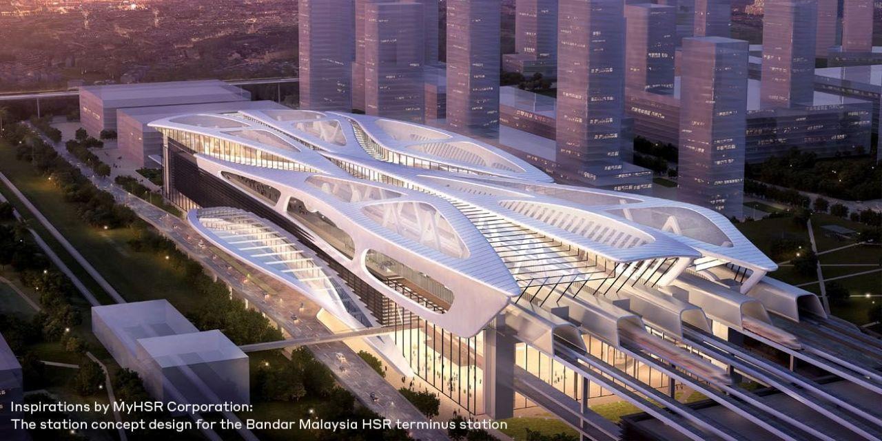 Vizualizace terminálu vysokorychlostní železnice v Kuala Lumpur. Foto: WSP.com
