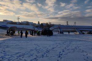Jak-40 po přesunu do muzea zaparkovaný vedle Tu-154 M. Foto: Letecké muzeum Kunovice