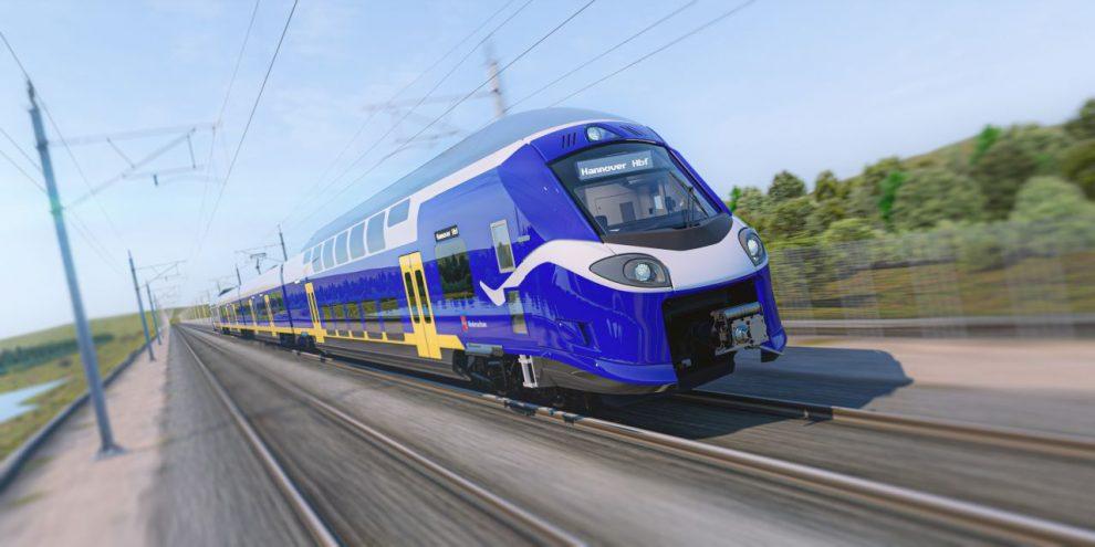 Nové elektrické jednotky Alstom Coradia HC pro Dolní Sasko. Foto: LNVG