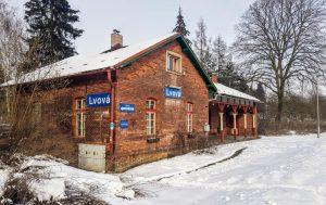 Zastávka Lvová na trati Liberec - Česká Lípa. Foto: Jan Sůra / Zdopravy.cz