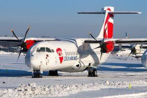 Odstavená ATR 72 ČSA na ruzyňském letišti. Foto: Petr Juriš