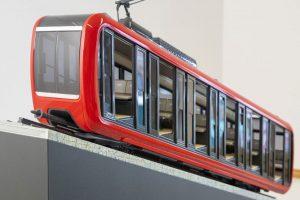 Nová vozidla pro ozubnicovou železnici na Pilatus. Foto: Pilatus.ch
