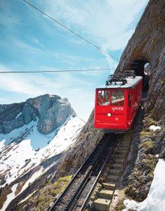 Ozubnicová železnice na Pilatus. Foto: Pilatus.ch