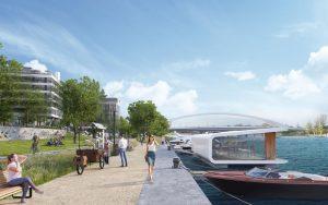 Vizualizace projektu Port7 v Holešovicích. Foto: Skanska