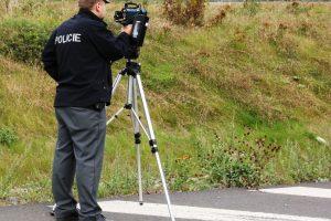 Měření rychlosti, ilustrační foto. Pramen: Policie ČR