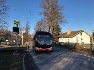 Parciální trolejbus Škoda 32Tr v Jihlavě. Foto: Dopravní podnik města Jihlavy