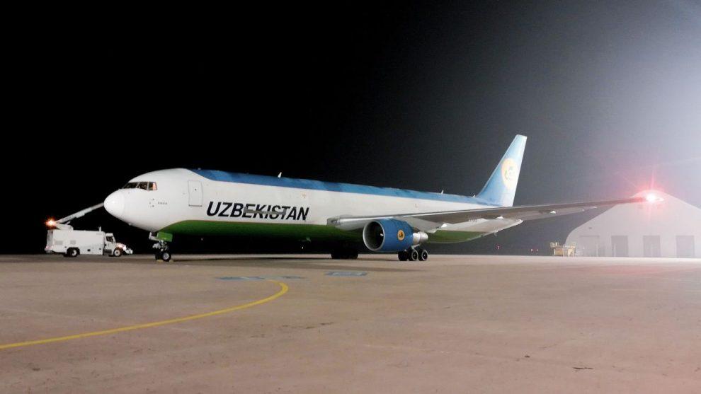 Nákladní Boeing 767 společnosti Uzbekistan Airways v Ostravě. Foto: LKMT Spotters