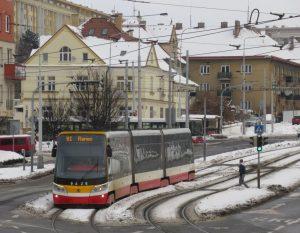 Náhradní tramvajová doprava při výluce linky metra C. Pramen: ROPID