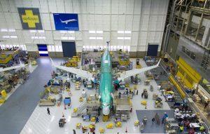 Výroba Boeingu 737 MAX 8. Foto: Boeing