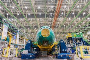 Výroba letadla Boeing 777-9 v Seattlu. Foto: Lufthansa