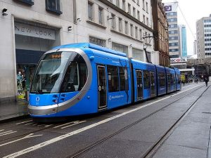 Tramvaj CAF s 5G připojením ve West Midlands. Foto: Voice of Calm, commons.wikimedia.org