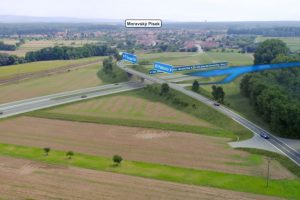 Vizualizace D55 u Moravského Písku. Foto: ŘSD