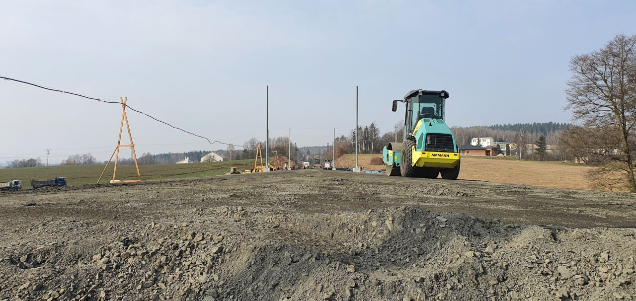 Sanace trati v úseku Dalovice - Hájek. Foto: Správa železnic