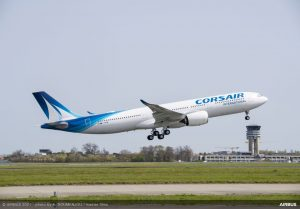 A330-900 pro Corsair odlétá z Toulouse. Foto: Airbus