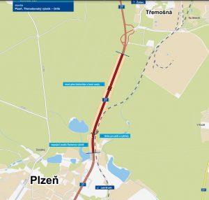 Silnice I/27 Plzeň - Třemošná. Pramen: ŘSD