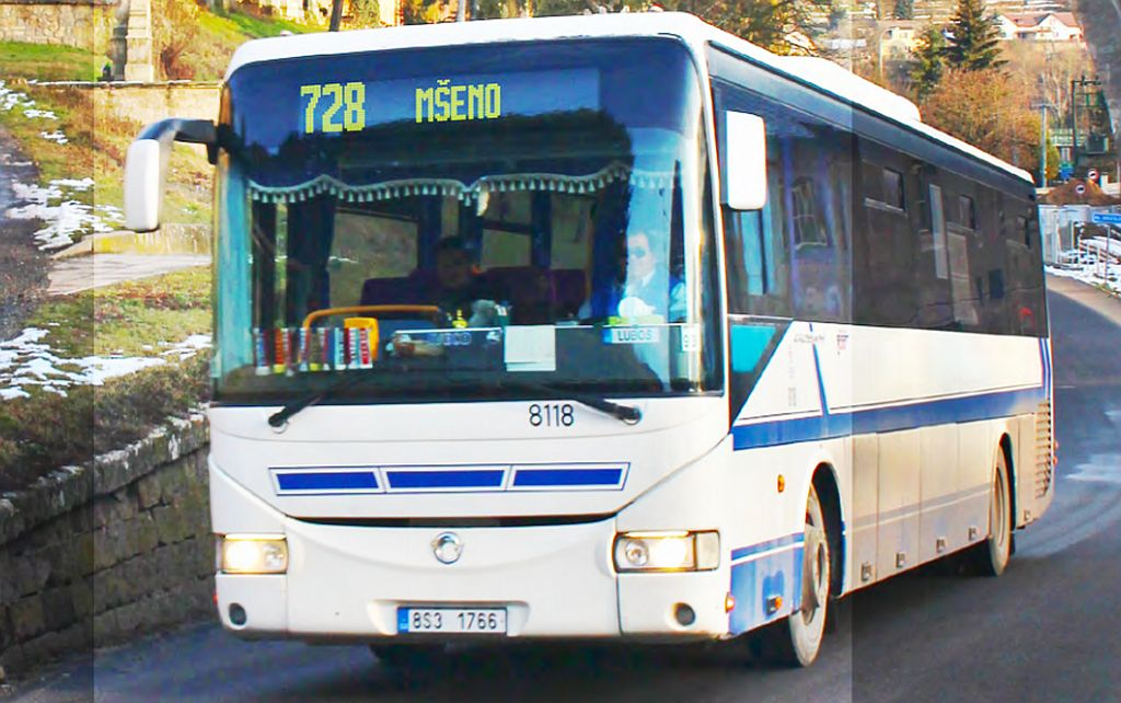Autobus směr Mšeno. Ilustrační foto. Pramen: ROPID